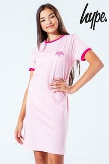 Hype. Pink Ringer Kids T-Shirt Dress
