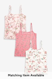 3 Pack Oriental Camisoles (1.5-16yrs)