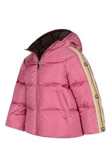 GUCCI Kids Baby Girls Pink Trim Padded Jacket