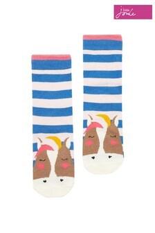 Joules Blue Neat Feet Socks