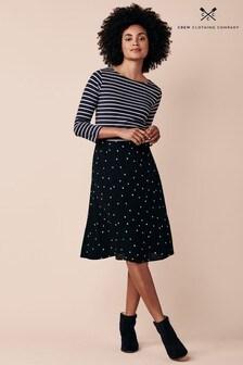 Crew Clothing Company Black Fliss Skirt