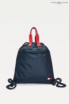 Tommy Hilfiger Blue Flag Drawstring Bag