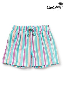 Boardies Boys Rock Stripe Mid Length Swim Shorts
