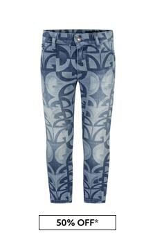 Dolce & Gabbana Kids Boys Blue Cotton Jeans
