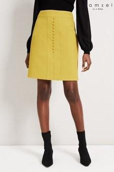 Damsel In A Dress Yellow Skye Textured Skirt