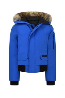 Boys Blue Down Padded Chilliwack Coat