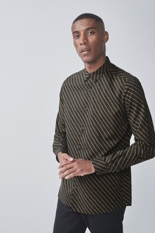 Slim Fit Chain Print Shirt