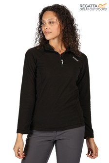Regatta Black Womens Montes Half Zip Fleece