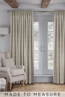 Tamsin Pewter Natural Made To Measure Curtains