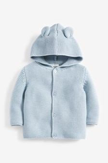 Bear Hooded Cardigan (0mths-3yrs)