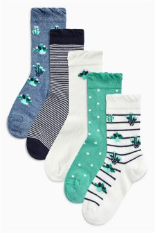 Cactus Socks Five Pack (Younger)