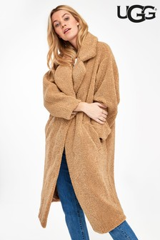 UGG® Camel Teddy Faux Fur Coat