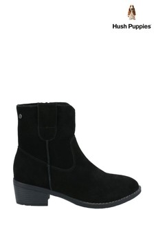 Hush Puppies Black Iva Ladies Ankle Boots