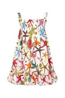 Versace Girls Multicolour Cotton Dress