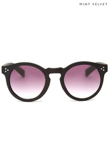 Mint Velvet Kos Black Studded Sunglasses