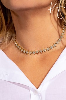 Kate Thornton 'Sparkling Stars' Gold Occasion Necklace