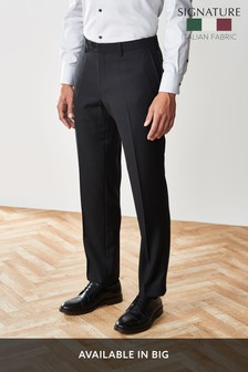 Signature Italian Wool Suit: Tailored Fit Trousers