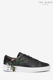 Ted Baker Black Floral Trainers