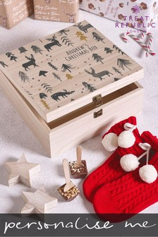Personalised Christmas Eve Wooden Box by Treat Republic