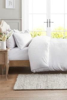 Zestaw pościeli z waflową teksturą: poszwa na kołdrę i poszewki na poduszki