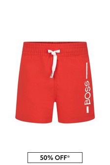Boss Kidswear BOSS Baby Boys Red Swim Shorts