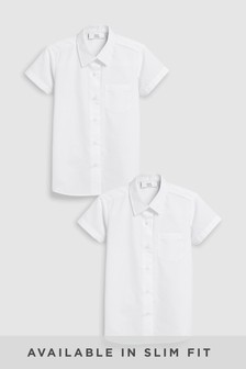 188a9f66b38 2 Pack Short Sleeve Formal Shirts (3-16yrs)