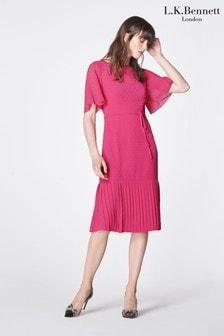 L.K.Bennett Pink Boe Textured Dress