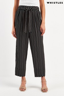 Whistles Multi Elephant Print Crepe Trousers