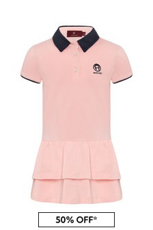 Aigner Baby Girls Pink Cotton Dress