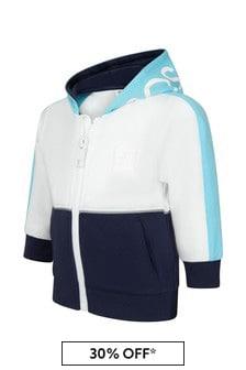 Boss Kidswear Navy Cotton Hoodie