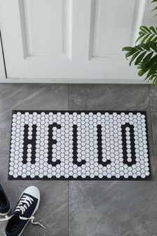 Hello Vinyl Tiles Doormat