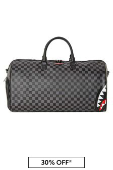 Kids Grey Sharks In Paris Duffle Bag
