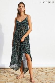 Mint Velvet Aubrey Print Maxi Beach Dress