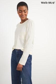 White Stuff White Crochet Pocket T-Shirt