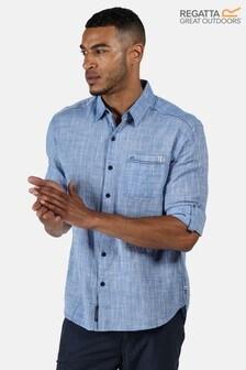 Regatta Blue Banning Long Sleeve Shirt