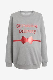 Maternity Christmas Delivery Sweater
