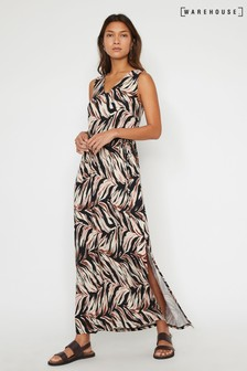 Warehouse Animal Abstract Tiger Maxi Dress