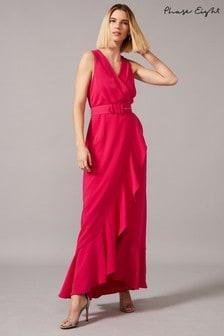 Phase Eight Pink Lara Frill Maxi Dress