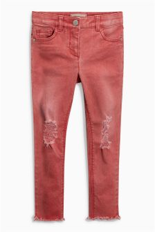Distressed Skinny Jeans With Flower Headband (3-16yrs)