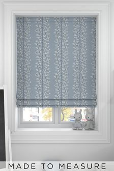 Wray Sky Blue Made To Measure Roman Blind