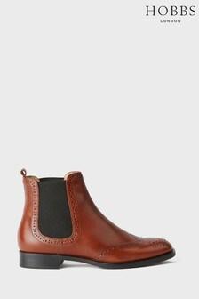 Hobbs Camel Nicole Brogue Boots