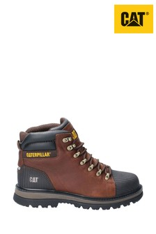 CAT® Brown Foxfield Lace-Up Safety Boots