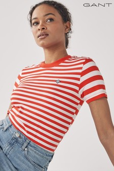 GANT Lava Red Striped T-Shirt