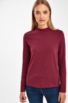 High Neck Long Sleeve Top