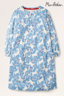 Mini Boden Blue Printed Long-Sleeved Nightie