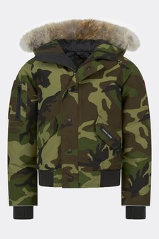 Canada Goose Camo Down Padded Rundle Bomber Jacket