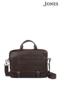 Jones Bootmaker Brown Men's Waterproof Leather Messenger Briefcase