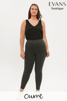 Evans Curve Grey Stretch Ponte Leggings