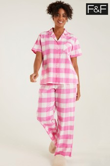 F&F Pink Gingham Pyjamas
