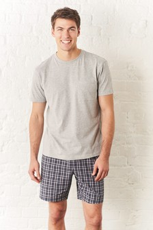 Check Woven Short Set
